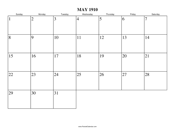 Next month: June 1910 | Previous month: April 1910 | All 1910 ...