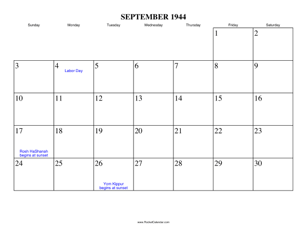 Holidays in September, 1944:: https://www.rocketcalendar.com/calendar/1944-09
