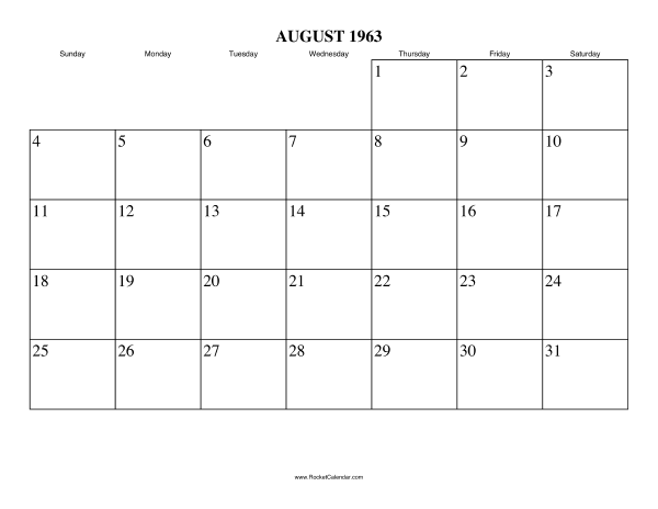 ... month: July 1963   All 1963 Calendars   Calendars for other years