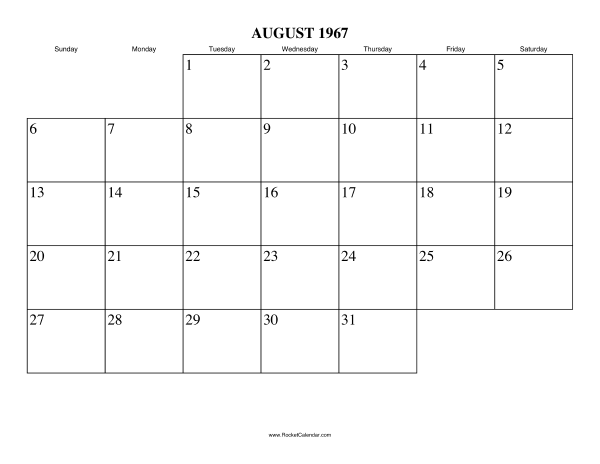 ... month: July 1967 | All 1967 Calendars | Calendars for other years