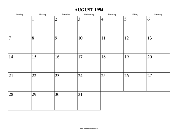 ... month: July 1994 | All 1994 Calendars | Calendars for other years