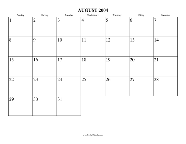 next month september 2004 previous month july 2004 all 2004 calendars ...