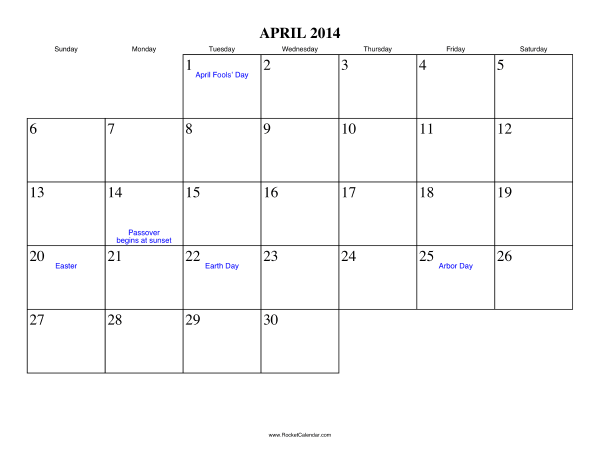 "Results Calendar April : Search results for ""easter calendar"